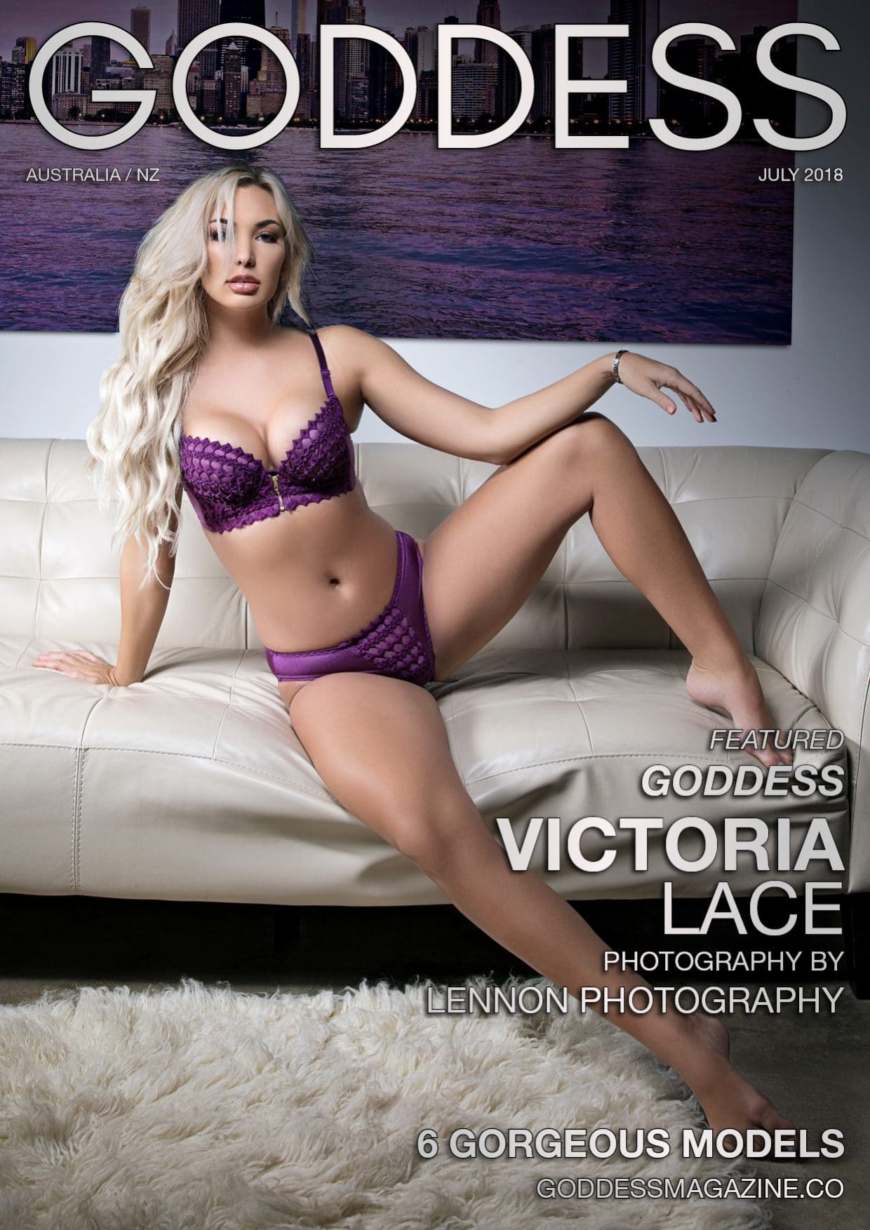 Goddess Magazine – July 2018 – Victoria Lace 1