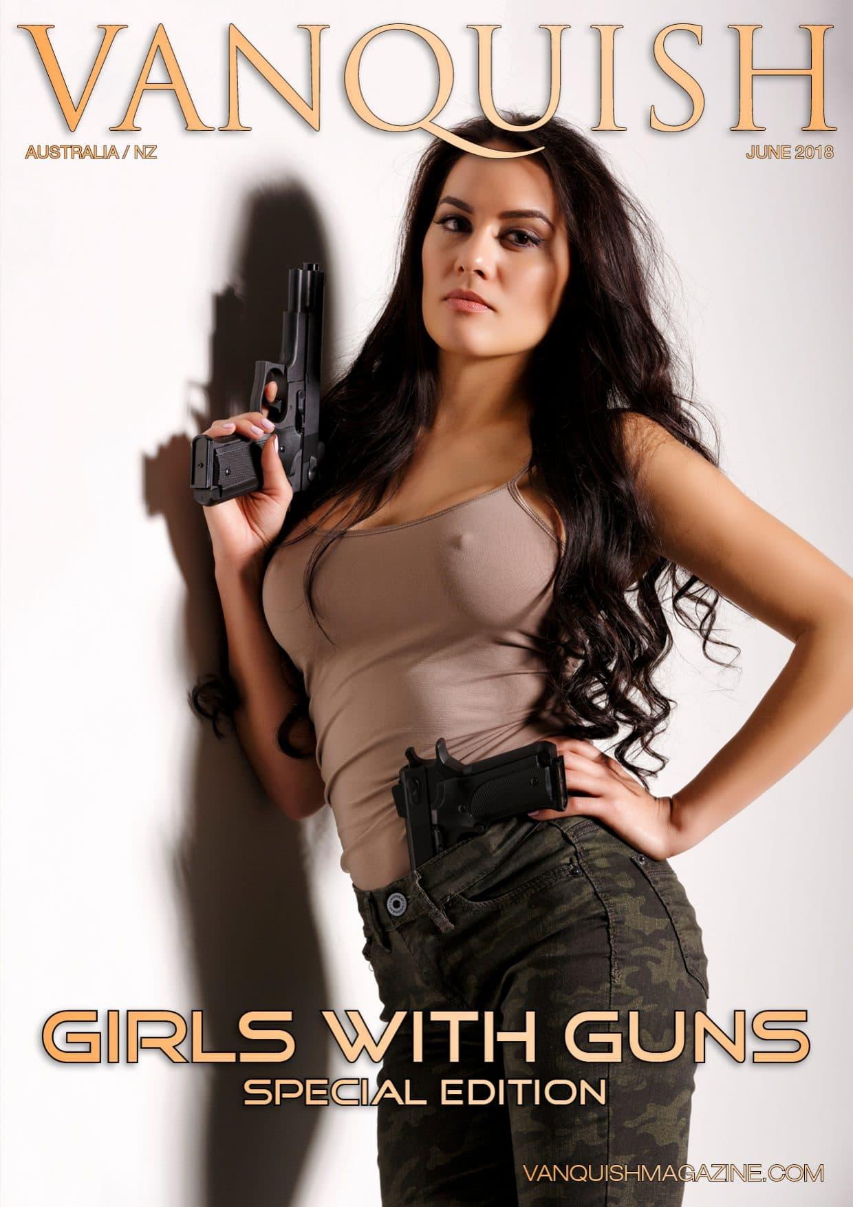 Vanquish Magazine - Girls with Guns - Sarah Maria Paul 1