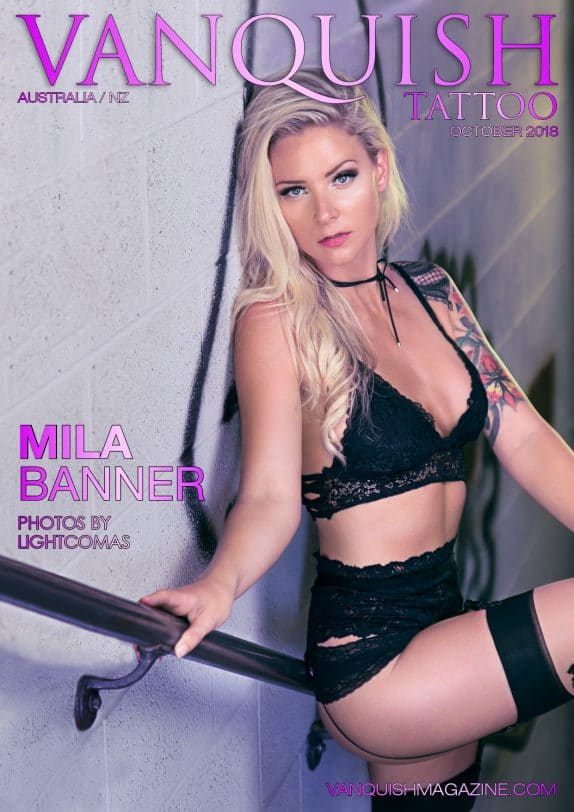 Vanquish Tattoo – October 2018 – Mila Banner
