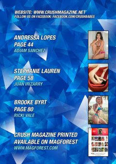 Crush Magazine – December 2018 – Stephanie Lauren