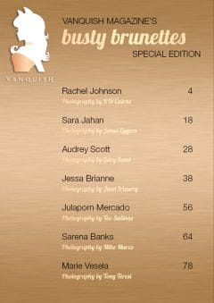 Vanquish Magazine – September 2019 – Busty Brunettes Special Edition – Rachel Johnson
