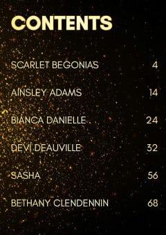 Goddess Magazine – December 2019 – Scarlet Begonias