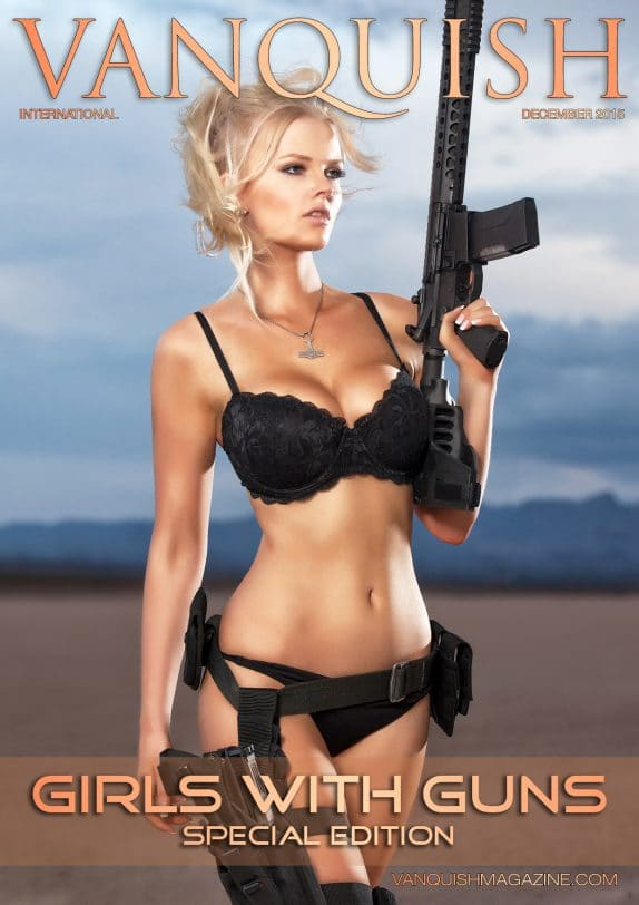 Vanquish Magazine - Girls with Guns - Zienna Eve