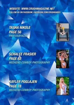 Crush Magazine – August 2020 – Schalee Frasier